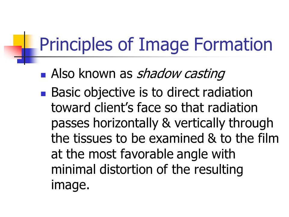 Principles of Image Formation