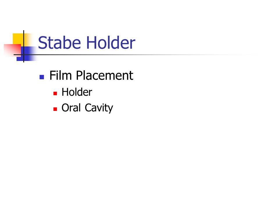 Stabe Holder Film Placement Holder Oral Cavity
