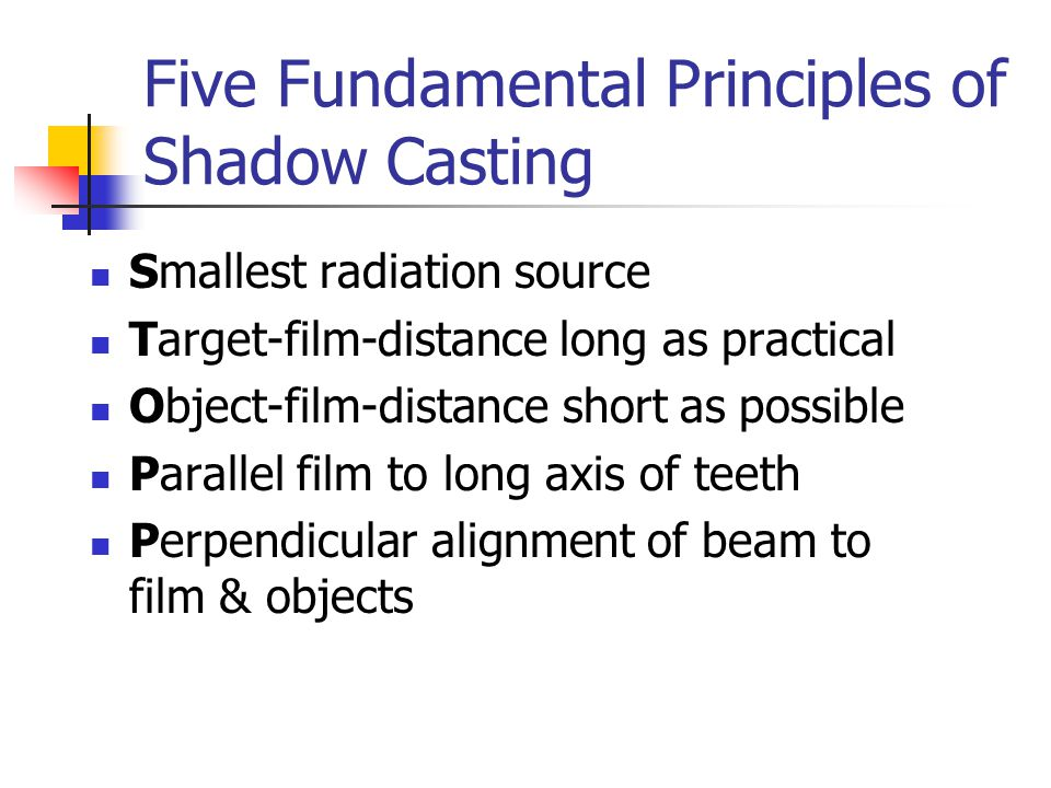 Five Fundamental Principles of Shadow Casting