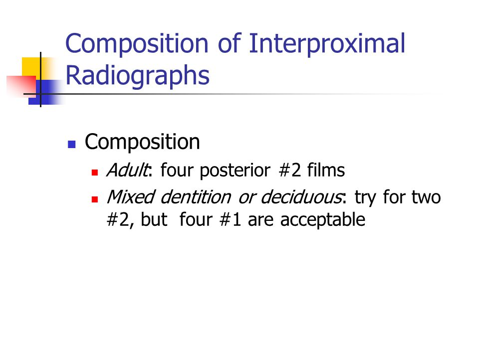 Composition of Interproximal Radiographs