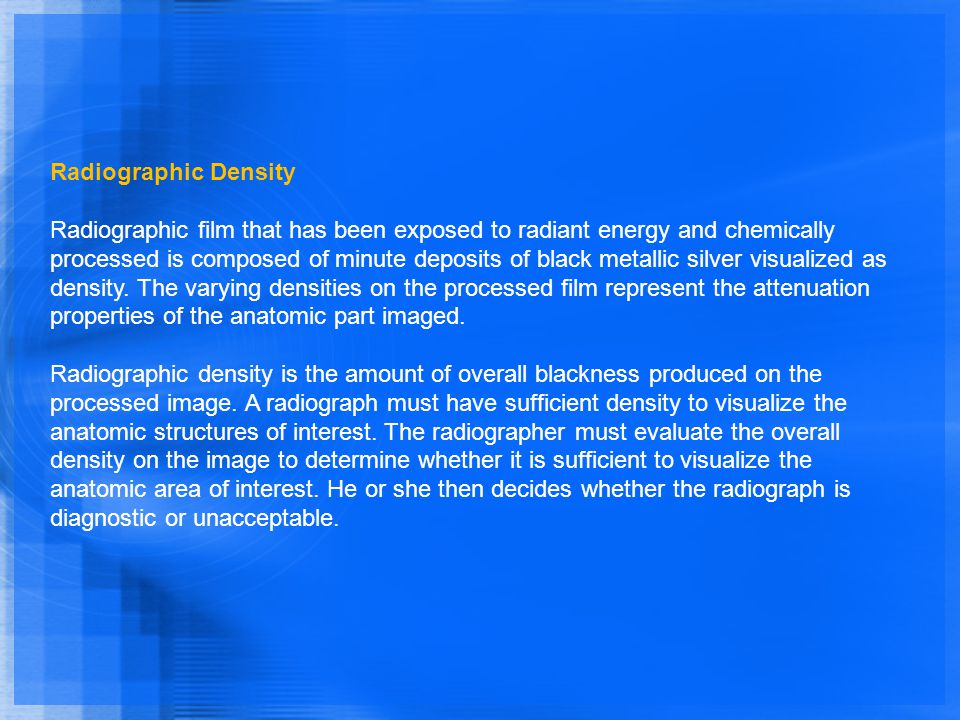 Radiographic Density