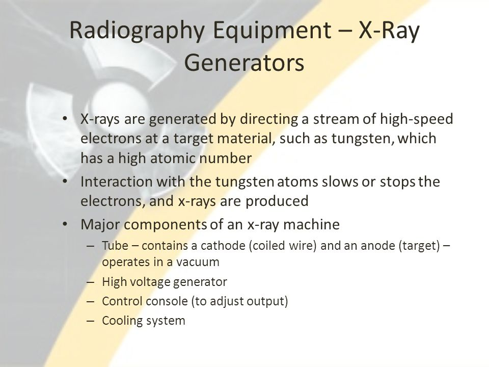 Radiography Equipment – X-Ray Generators