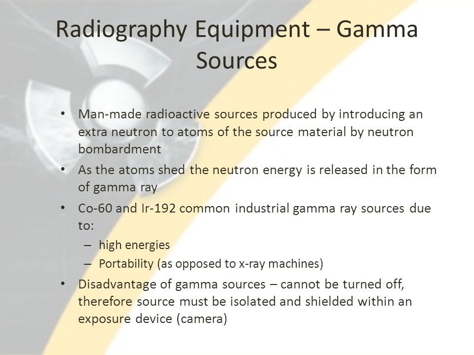 Radiography Equipment – Gamma Sources