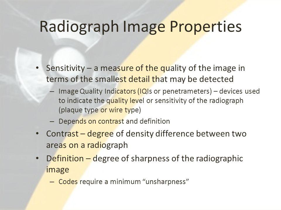 Radiograph Image Properties