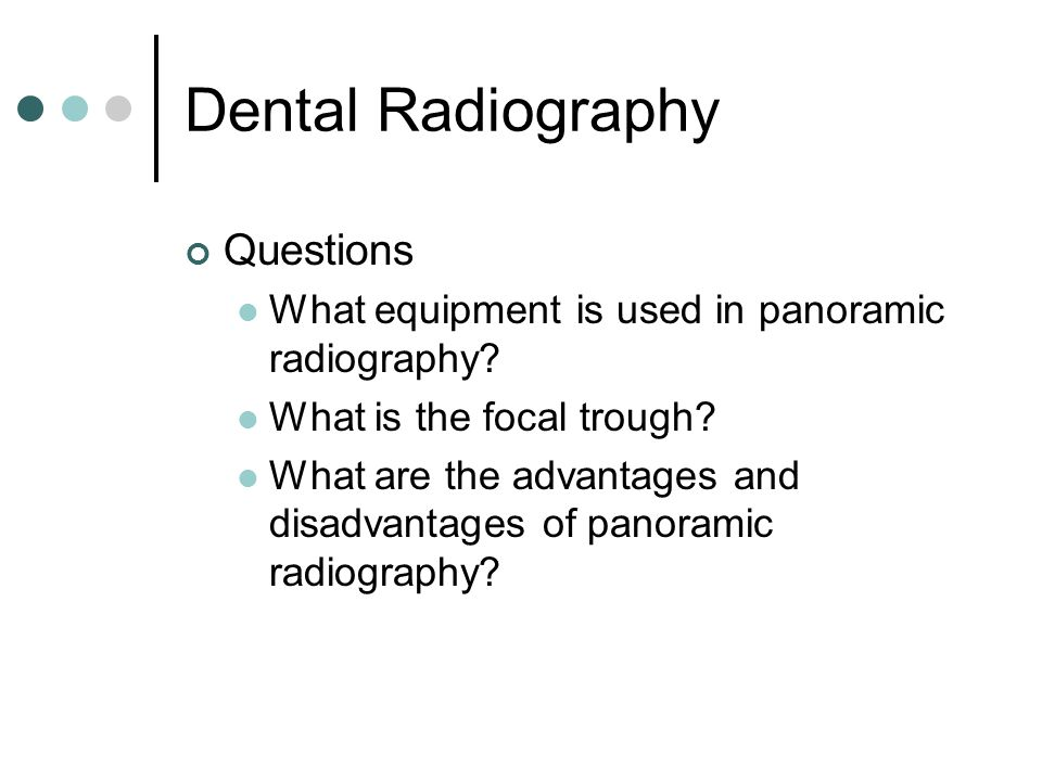 Dental Radiography Questions