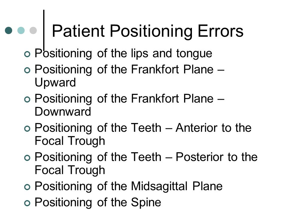 Patient Positioning Errors