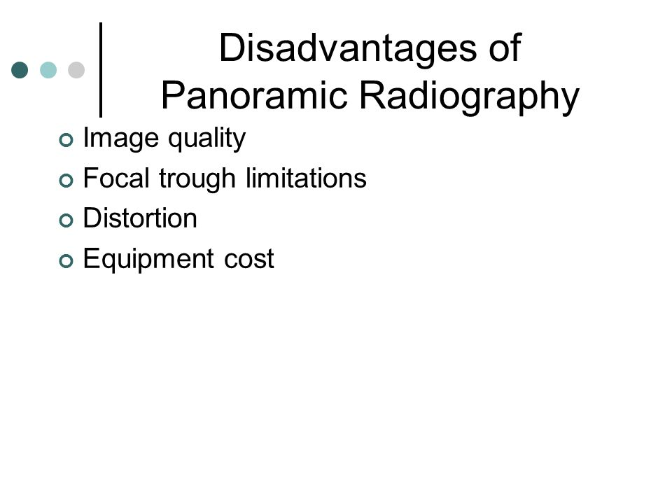 Disadvantages of Panoramic Radiography