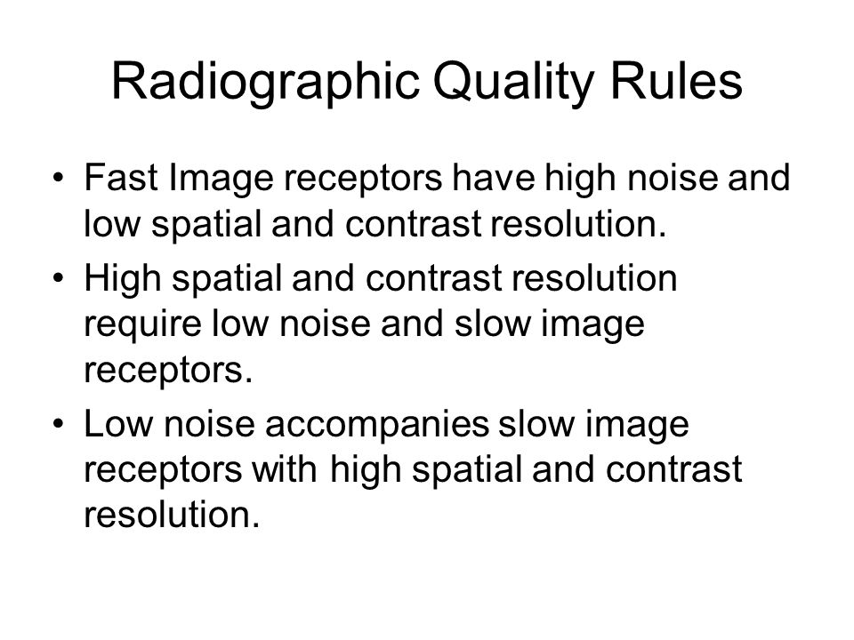 Radiographic Quality Rules
