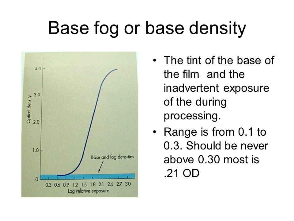 Base fog or base density
