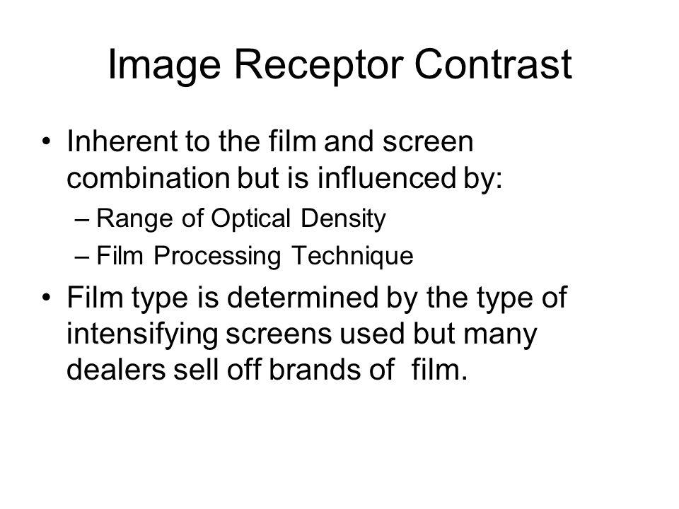 Image Receptor Contrast