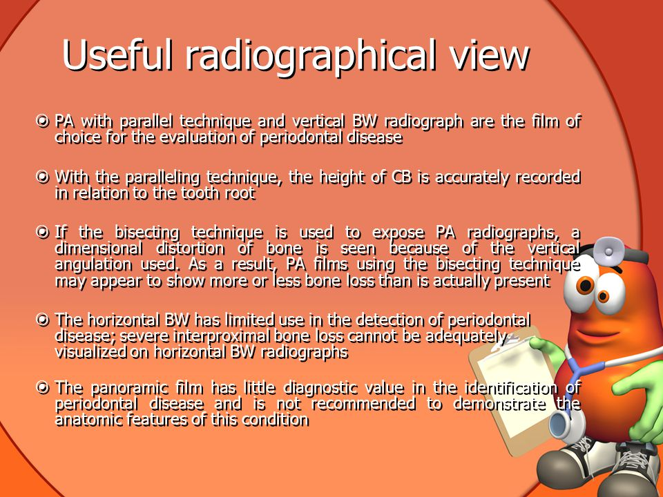 Useful radiographical view