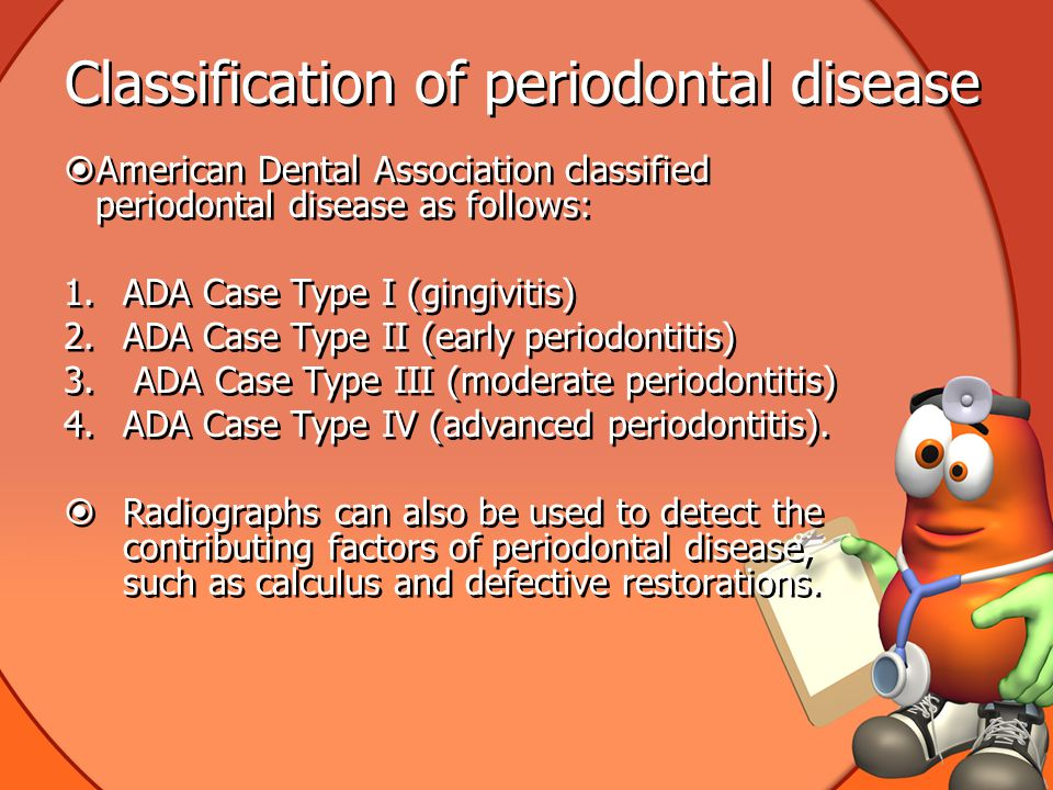 Classification of periodontal disease