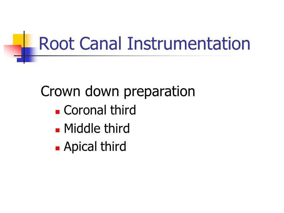 Root Canal Instrumentation