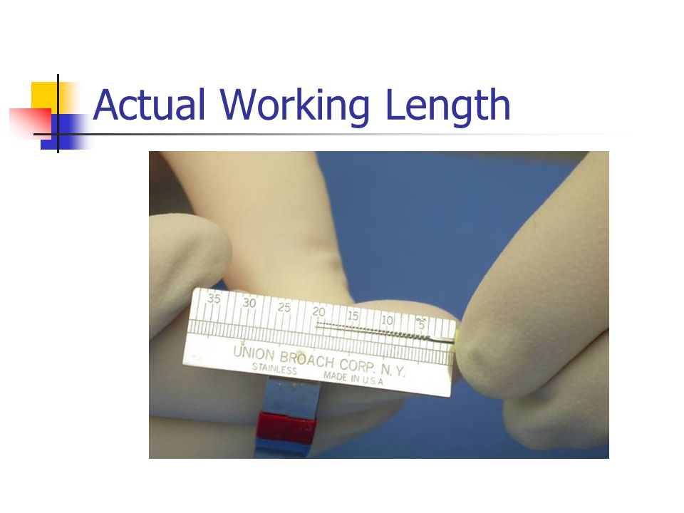 Actual Working Length
