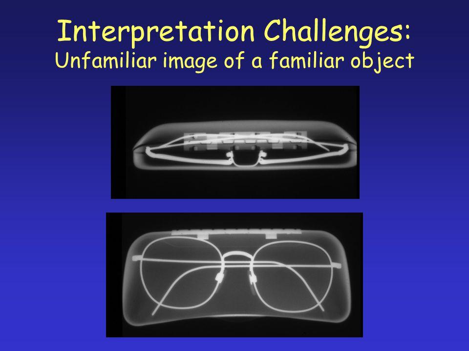 Interpretation Challenges: Unfamiliar image of a familiar object