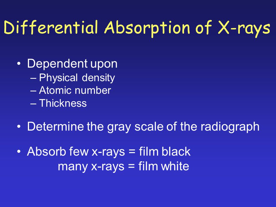 Differential Absorption of X-rays
