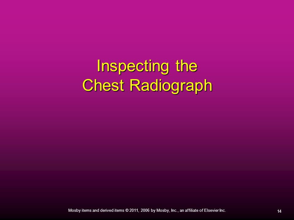 Inspecting the Chest Radiograph