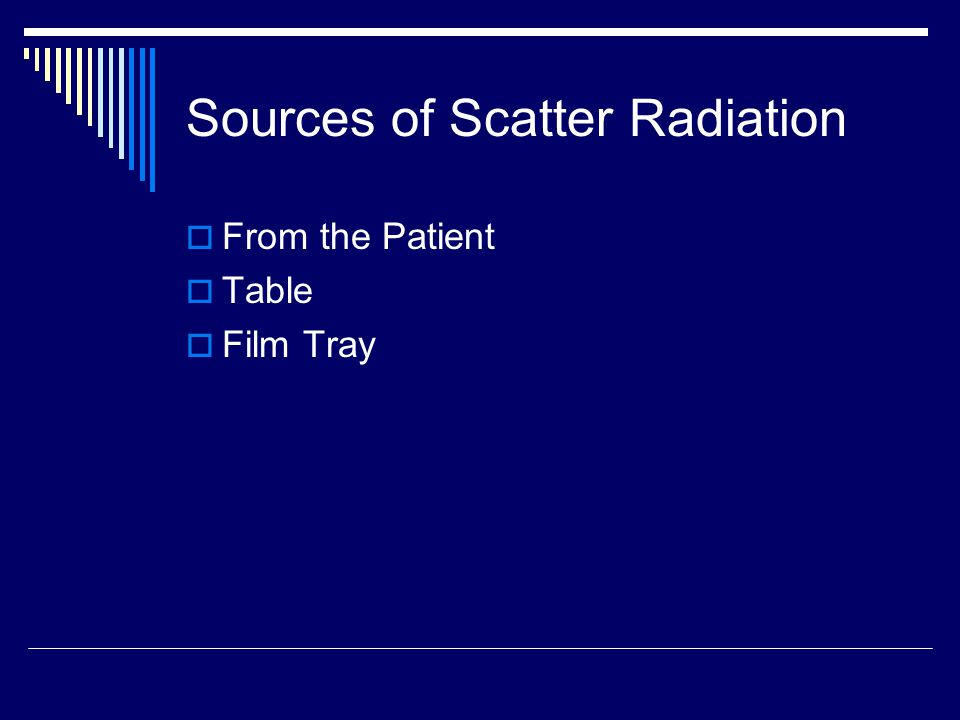 Sources of Scatter Radiation