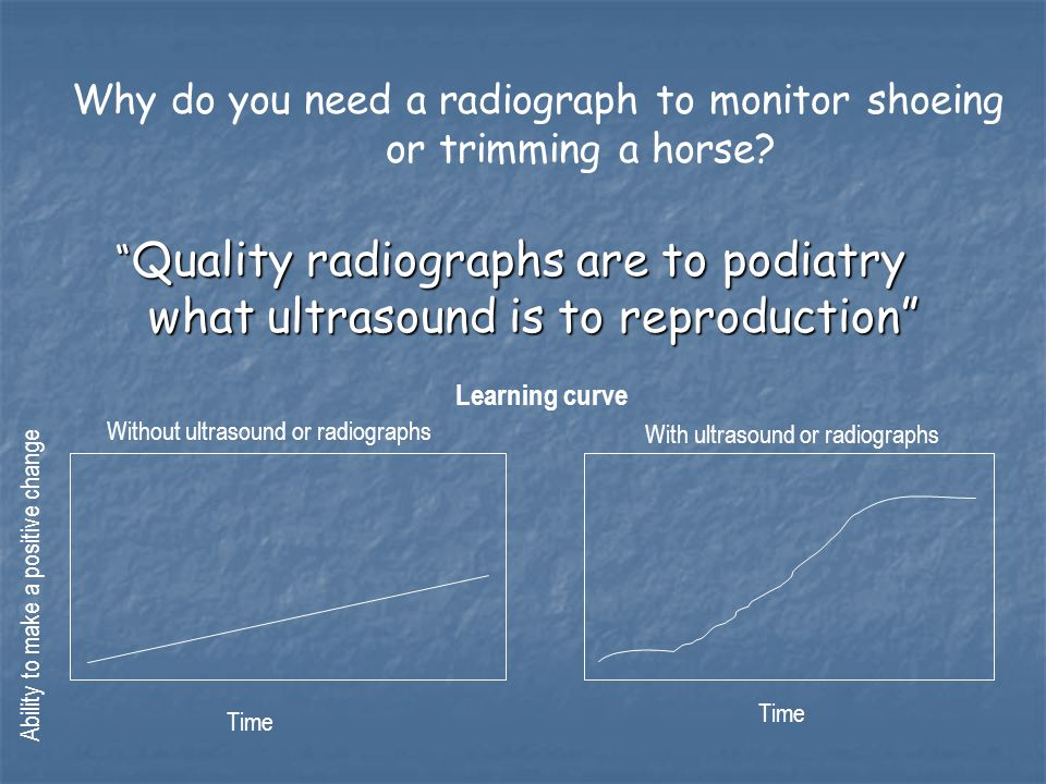 Why do you need a radiograph to monitor shoeing or trimming a horse