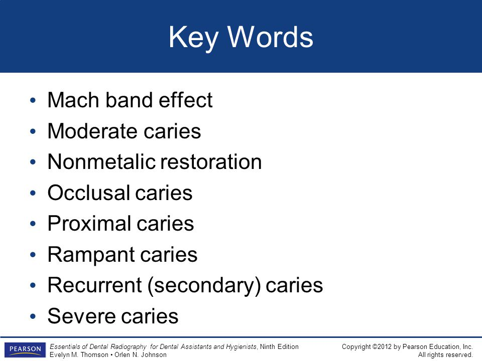 Key Words Mach band effect Moderate caries Nonmetalic restoration