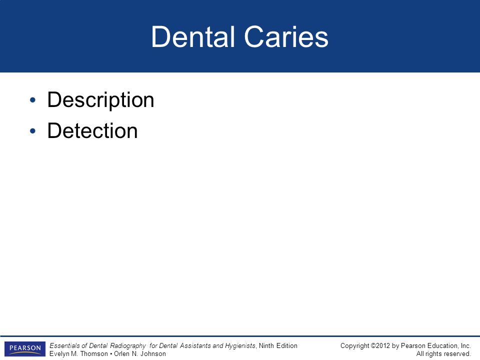 Dental Caries Description Detection