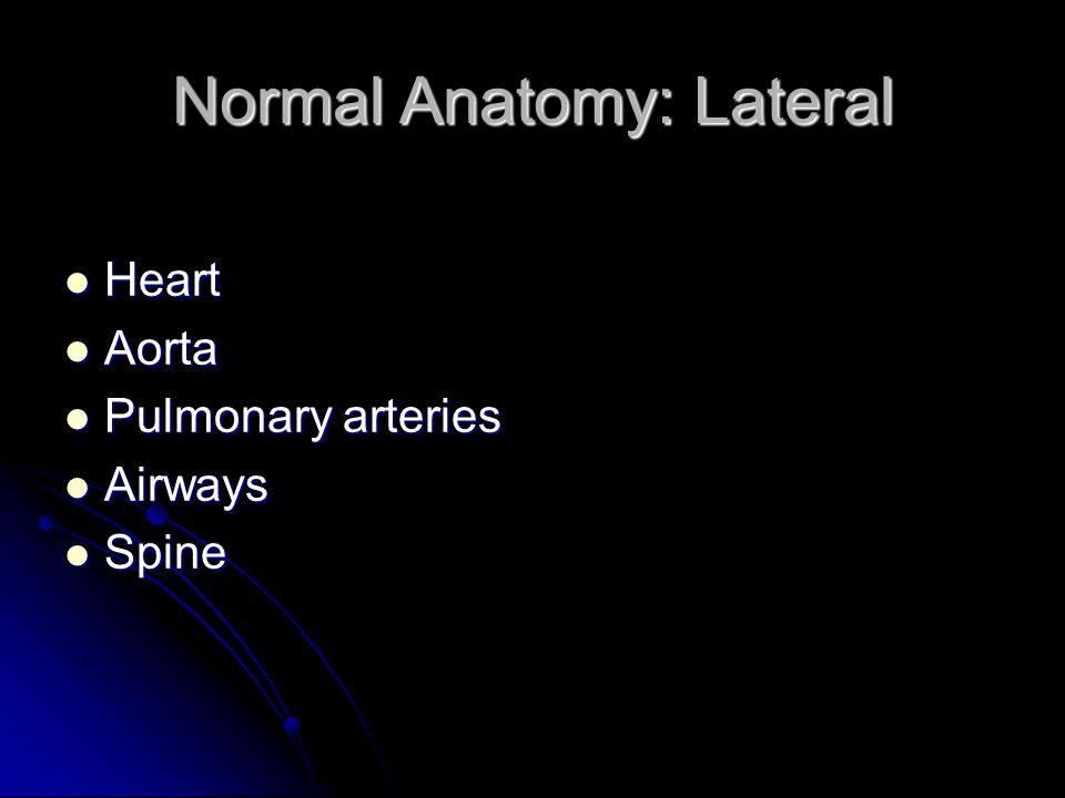 Normal Anatomy: Lateral