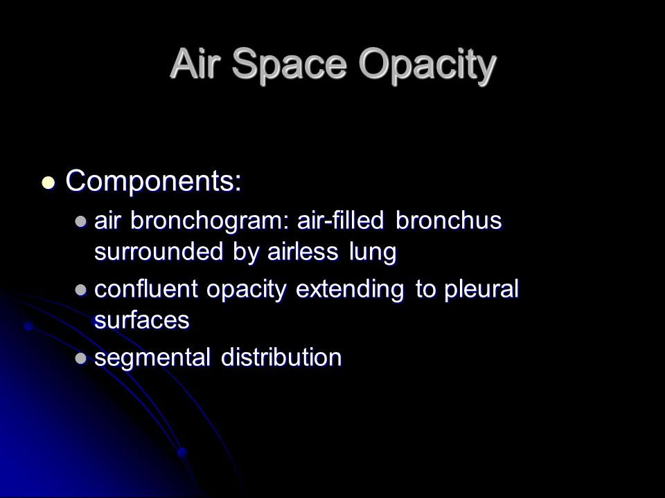 Air Space Opacity Components: