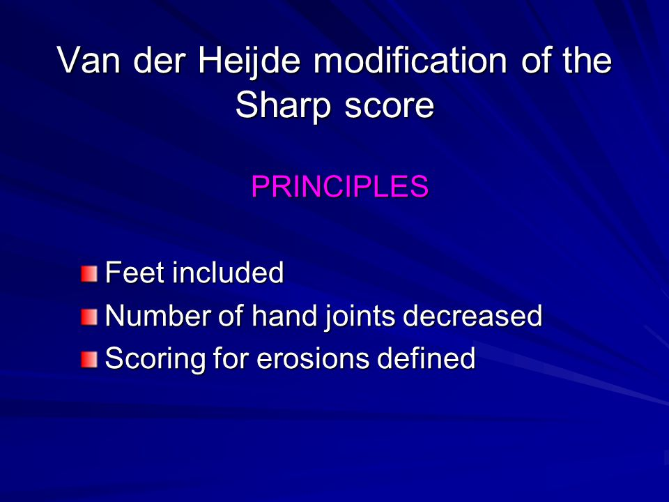 Van der Heijde modification of the Sharp score