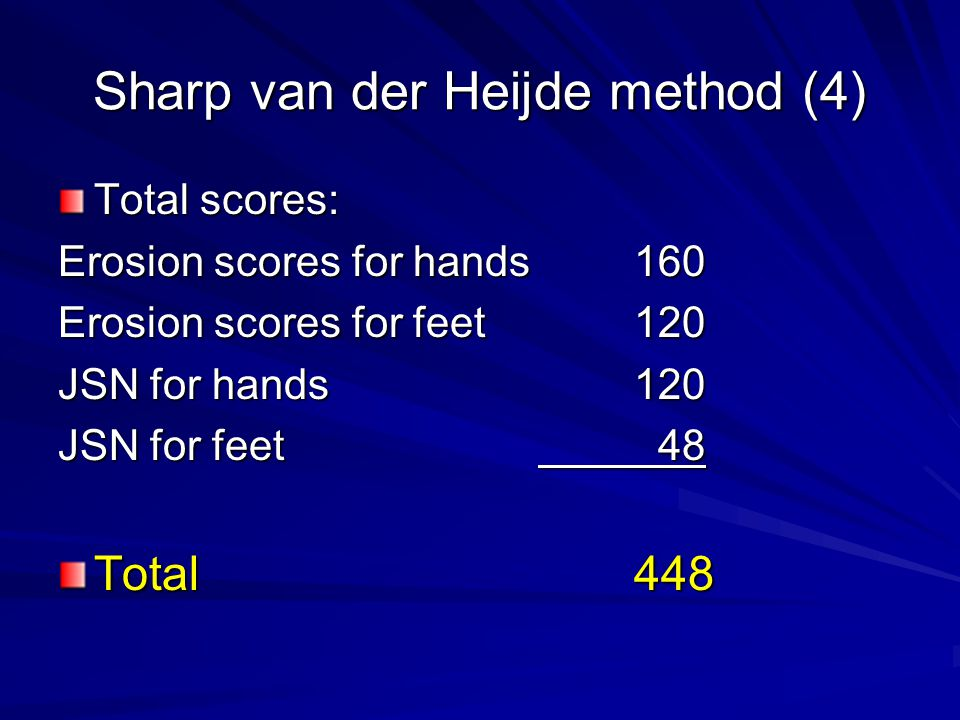 Sharp van der Heijde method (4)