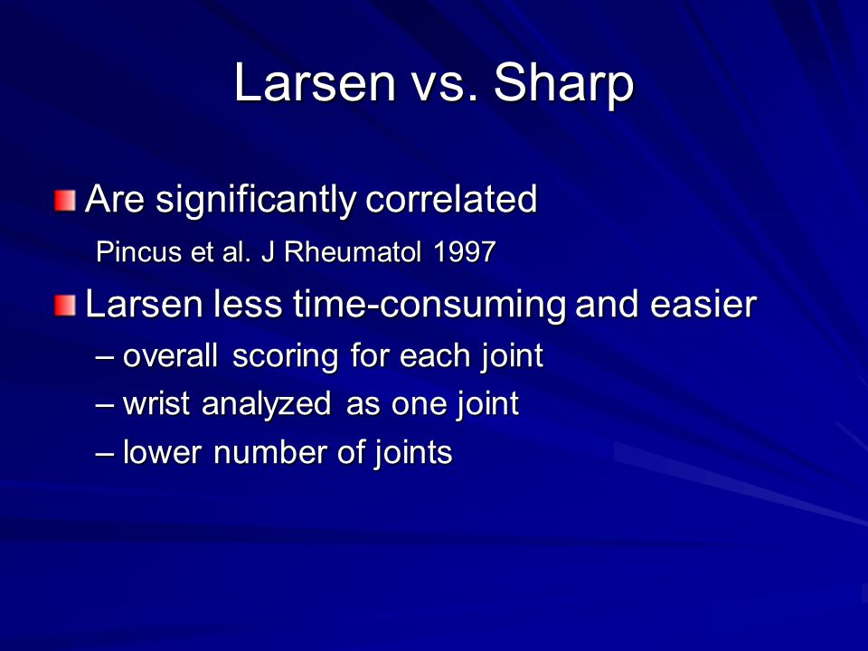 Larsen vs. Sharp Are significantly correlated