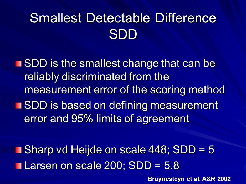 Smallest Detectable Difference SDD