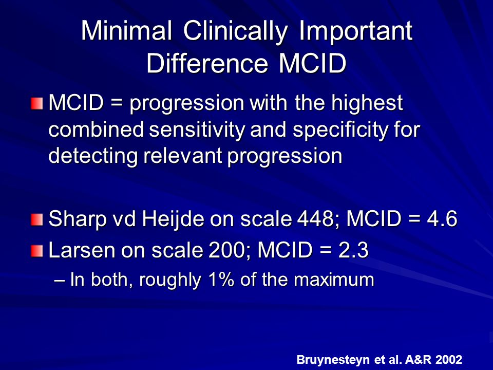 Minimal Clinically Important Difference MCID