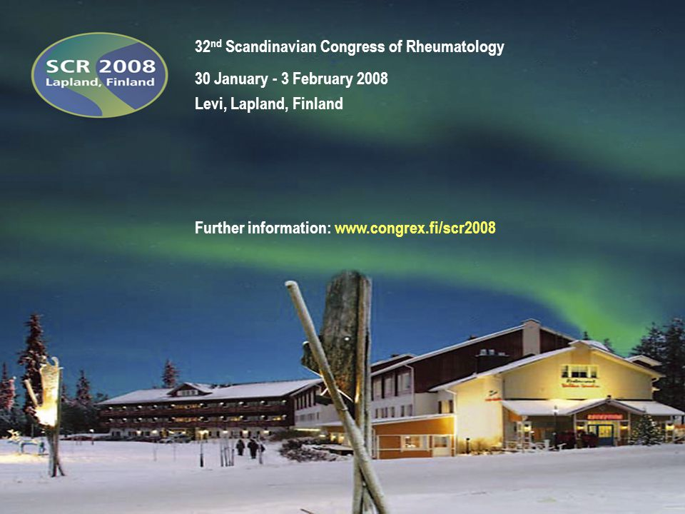 32nd Scandinavian Congress of Rheumatology