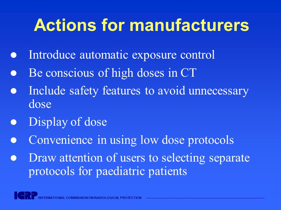 Actions for manufacturers