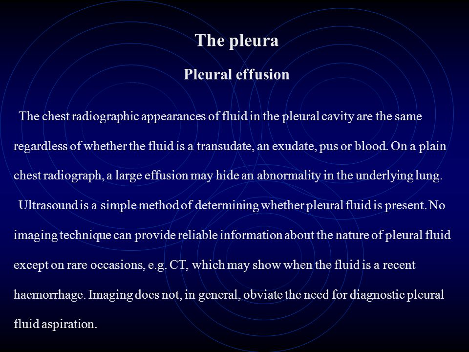The pleura Pleural effusion