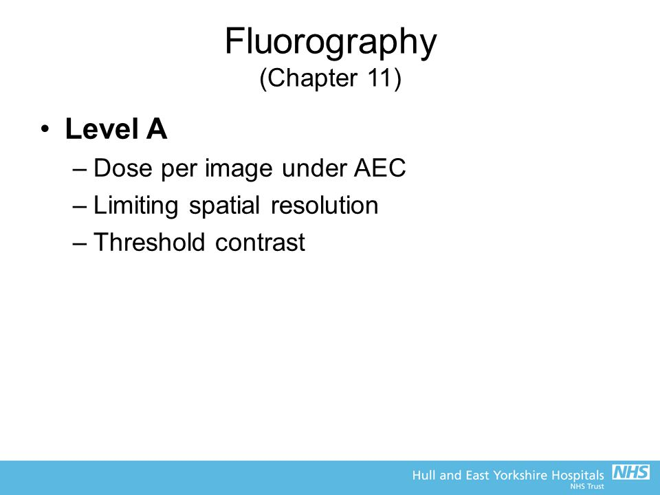 Fluorography (Chapter 11)