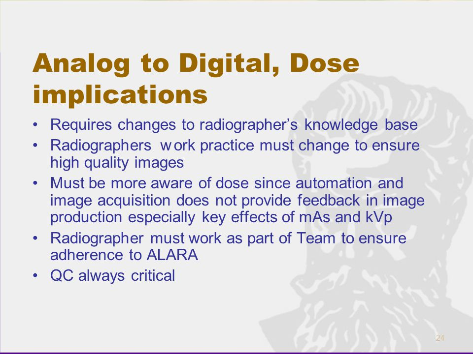 Analog to Digital, Dose implications
