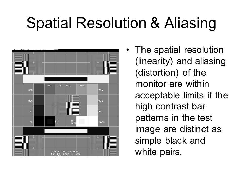 Spatial Resolution & Aliasing