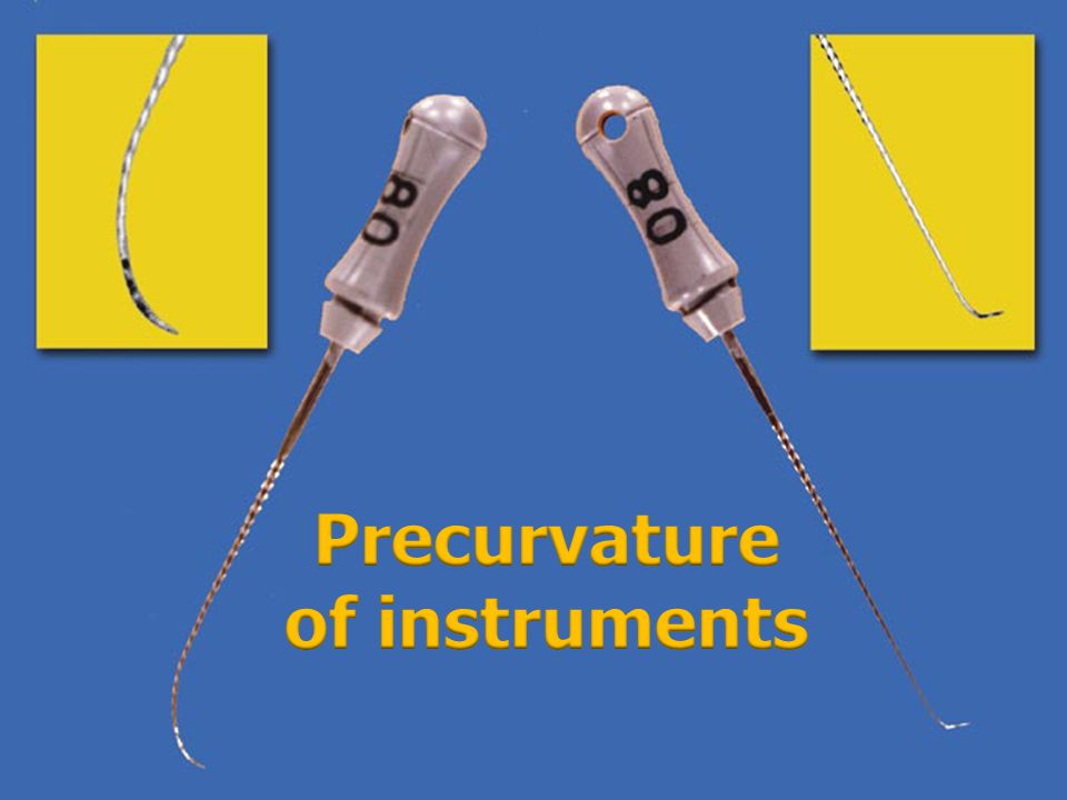 Precurvature of instruments