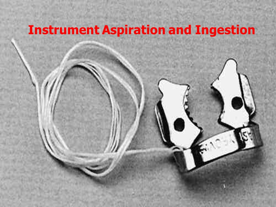 Instrument Aspiration and Ingestion