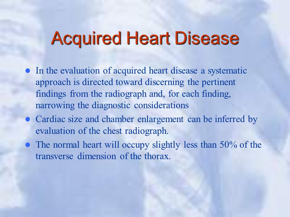Acquired Heart Disease