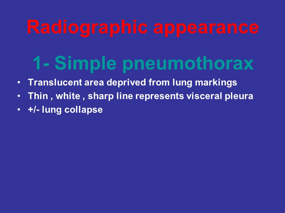 Radiographic appearance