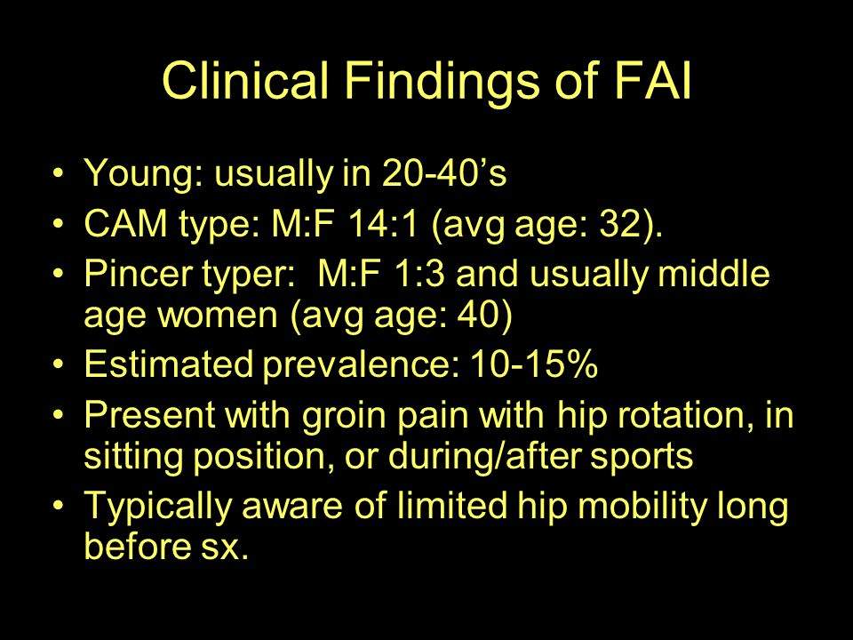 Clinical Findings of FAI