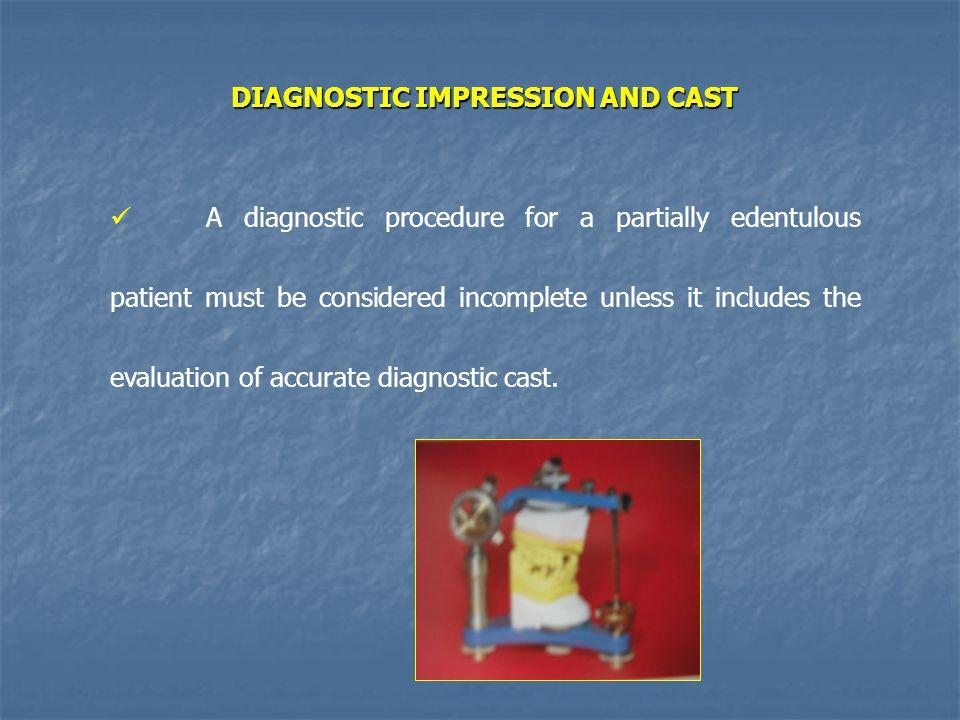 DIAGNOSTIC IMPRESSION AND CAST