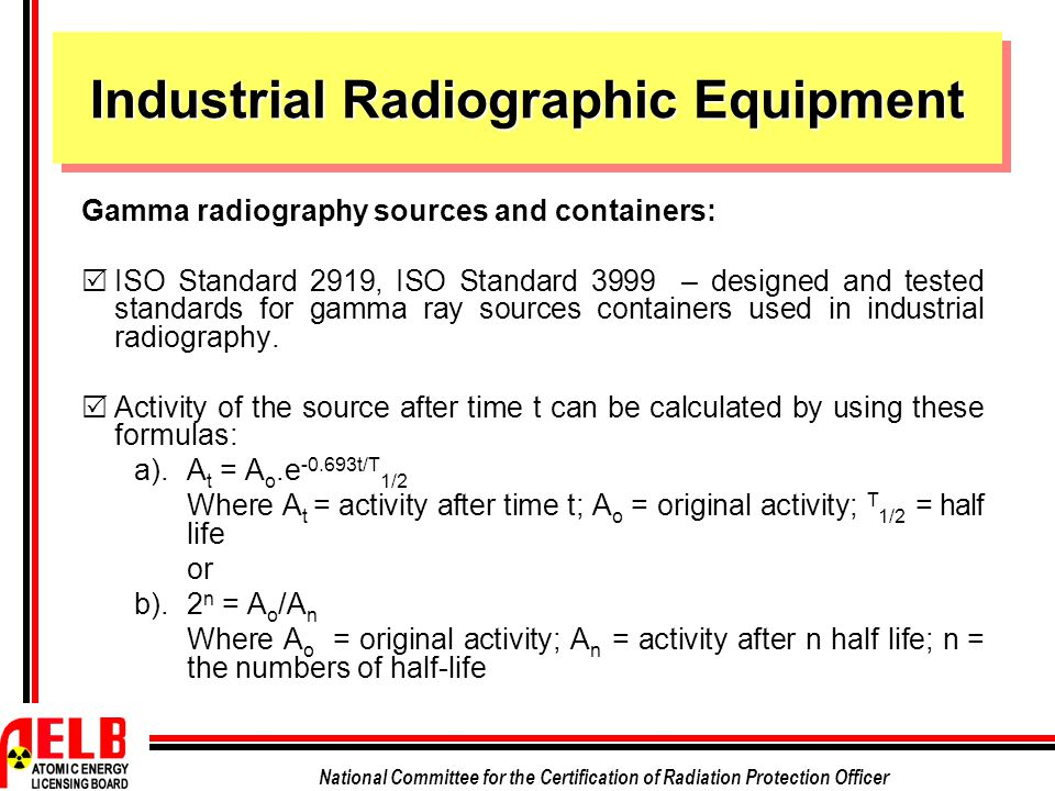 Industrial Radiographic Equipment
