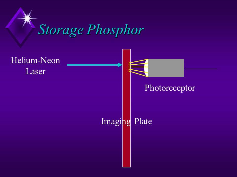 Storage Phosphor Helium-Neon Laser Photoreceptor Imaging Plate