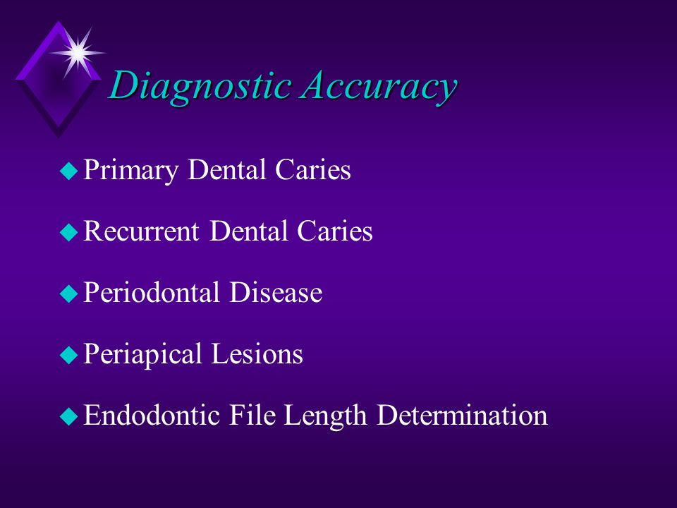 Diagnostic Accuracy Primary Dental Caries Recurrent Dental Caries