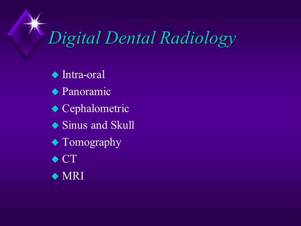 Digital Dental Radiology