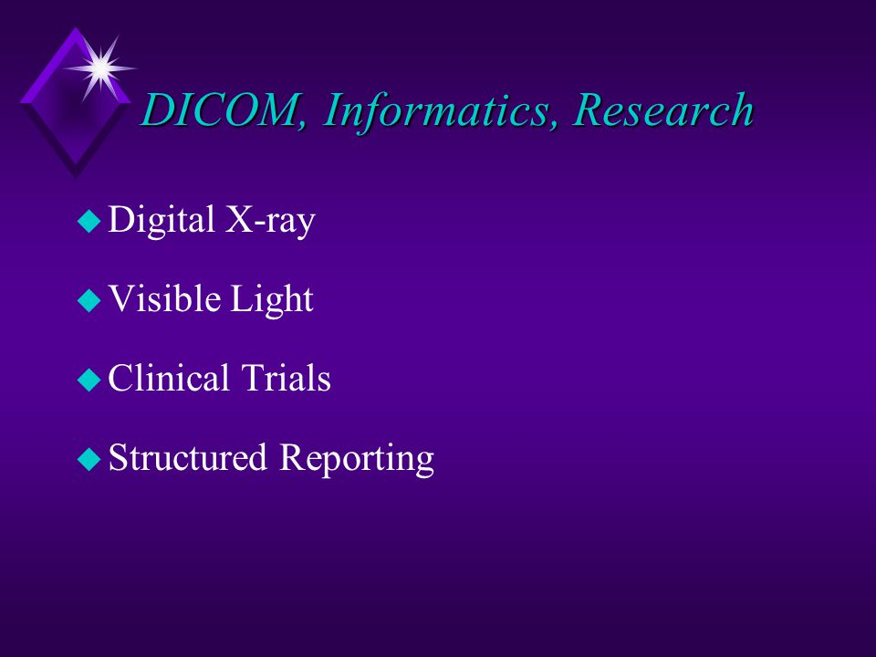DICOM, Informatics, Research
