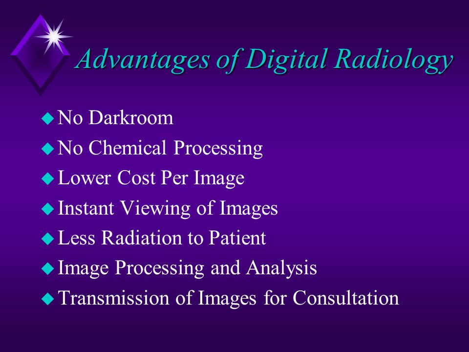 Advantages of Digital Radiology